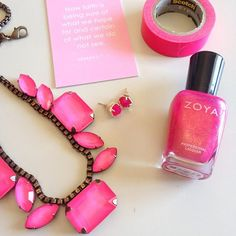 Hot pink vibes on this gorgeous Saturday!   @rocksbox totally gets me. Keep sending all the hot pink and brightness you can!  Wanna get a free box and try @rocksbox for a month?! Use my code: APLACETODWELLXOXO.  It's such a fun thing for spring.  #everydayzoya #zoyanailpolish #zoyakimber #rocksbox #rocksboxitgirl #beyourbrightest #lovepluscolor #abmlifeiscolorful #aptdrocksbox #kendrascott #lorenhope