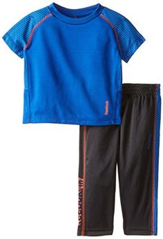 Reebok BabyBoys Infant Honeycomb Performance Set Collegiate Blue 24 Months >>> More info could be found at the image url. (This is an affiliate link) #BabyBoyHoodiesandActive
