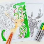 Woodland Coloring Pages – Deer