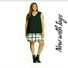 Adam lippes painterly plaid double layer dress XL New w tags Adam lippes Dresses