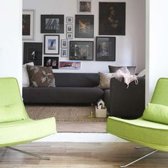 Green barcelona chairs