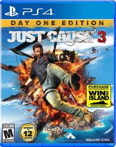Title: Just Cause 3 (Playstation 4)...   The Mediterranean republic of Medici is suffering under the brutal control of General Di Ravello, a dictator with an insatiable appetite for power. Enter Rico Rodriguez, a man on a mission to destroy the General's hold on power by any means necessary. With over 400 square miles of complete freedom from sky to seabed and a huge arsenal of weaponry, gadgets and vehicles, prepare to unleash chaos in the most creative and explosive ways