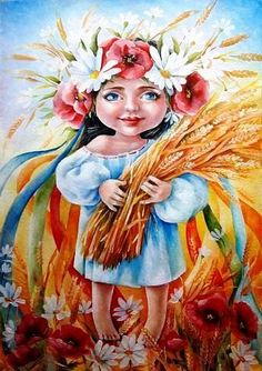 Ukrainian Tattoo, Ukrainian Art, Bread Art, Fairy Art, Tattoo Sketches, Illustrations, Painting For Kids, Crochet Dolls, All Art
