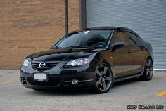 white 2005 automatic mazda 3 black ims   2008 Black Mazda 3 Hatchback GT aka Black Mamba - Mods: Speed3 Rims ...
