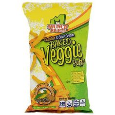 Munch Rights Cheddar & Sour Cream Baked Veggie Puffs, 3.5-oz. Bag