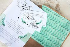 Invitación de boda Laurel - Lino&Tipia -  #boda #invitación #sobrekraft