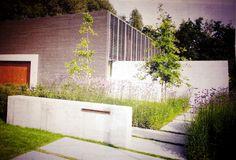 beton tuin entree brievenbus