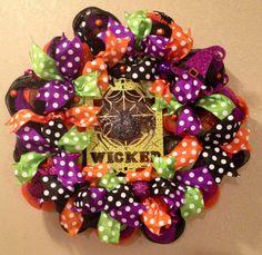 Halloween wreath spider wreath wicked wreath by WandNDesigns