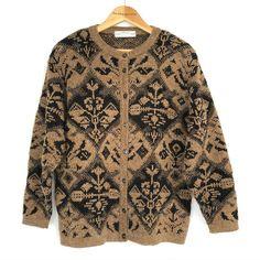 Vintage St Michael Funky Bold Patterned Cardigan UK Size 12 14 New Wave Size 12 Uk, St Michael, Online Price, Retro Vintage, Men Sweater, Best Deals, Cosy, Knits, Wave