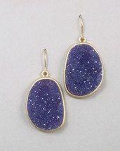Purple Druzy Earrings. $35.00, via Etsy.