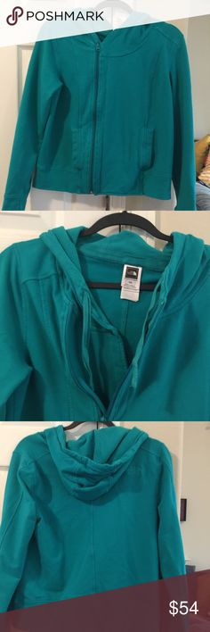 Teal North Face Hoodie M Nice hoodie jacket North Face  Size M Thumb holes North Face Jackets & Coats