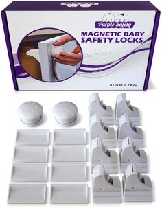 Magnetic Baby Safety Locks for Cabinets & Drawers - Baby Proof & Easy Install - No Screws or Drilling - 82 Set