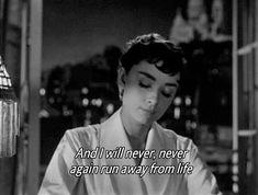 Audrey Hepburn in Sabrina. Audrey Hepburn, Aubrey Hepburn Quotes, Never Again, Roman Holiday, Movie Lines, Film Quotes, Old Movie Quotes, Classic Movie Quotes, Quotes Quotes