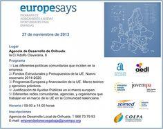 Europe Says Orihuela. 27/11/2013