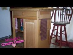 """Kitchen Design Ideas  - Country Kitchen Island - Before and After  """"I like this, I have a can of black paint I was going to use on an old door and decided to paint that a different colour. so now I know what i'll be doing this weekend..painting my kitchen cabinets black :-)  cherry420x"""