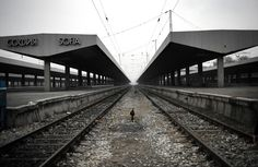 Sofia's central railway station stood deserted on November 24, 2011, during a strike by rail workers in Bulgaria.