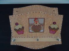 Porta Chaves e Cartas Galinha Cupcake