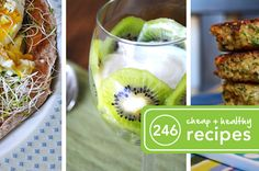 Clean eating - 246 Cheap and Healthy Recipes
