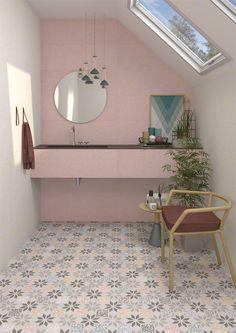 VIVES Azulejos y Gres - Wall tiles white body terrazzo effect tiles Cies Bathroom Floor Tiles, Wall Tiles, Room Interior, Interior Design, Spanish Tile, Bathroom Styling, Bathroom Inspo, Bathroom Ideas, Floor Decor