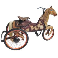 Adult Size, Carnival Horse Racing Bike | From a unique collection of antique and modern carnival art at https://www.1stdibs.com/furniture/folk-art/carnival-art/