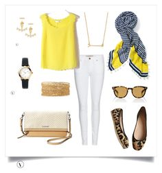 """""""SD Navy, White & Yellow 1"""" by beccagreen-i on Polyvore featuring Burberry, Kate Spade, Stella & Dot and Oliver Peoples"""