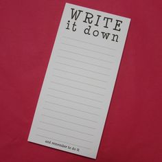 I'm selling Write It Down Notepad - A$5.00 #onselz