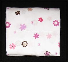 """Summer Infant """"Breathe Easy"""" Crib Sheet with Pink and Purple Flowers. #cribsheet #nursery"""
