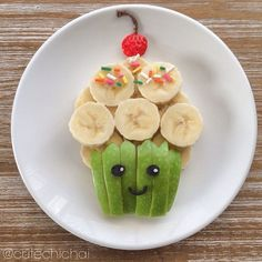 20 fun fruit dishes that your child will eat without tantrum - Obst Cute Snacks, Cute Food, Good Food, Yummy Food, Healthy Food, Dessert Healthy, Kid Snacks, Healthy Recipes, Healthy Fruits