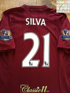 01528211b 2012 13 Man City Away Premier League Football Silva  21 (S)