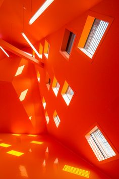 Joseph Abhar - Socio-cultural Center in Mulhouse Paul Le Quernec Architecte Orange Aesthetic, Aesthetic Colors, Orange Wallpaper, Of Wallpaper, Graphic Wallpaper, Photo Wall Collage, Picture Wall, Orange Tapete, Light In