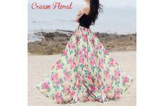 GroopDealz   Long Chiffon Maxi Skirts