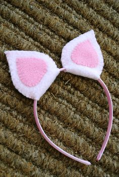 Plush Pig Ears Headband by TheThreadHouse on Etsy, $10.00
