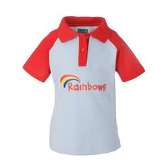 New Kids Official Girl Guide Rainbow Short Sleeved Polo T-shirt Top Rainbows Uniform, Red Polo Shirt, T Shirt, Kids Uniforms, Girl Guides, Short Sleeve Polo Shirts, New Kids, School Uniform, Polo Ralph Lauren