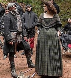 Dougal & Claire on set.