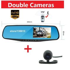 Car Camera Recorder Auto Camera  Car Dvr Dual Camera  Car-detector  HD1080P Camcorder Dash Cam Car Monitor