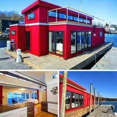 WHITE'S SHIPPING CONTAINER HOUSEBOAT #shippingcontainerhomes