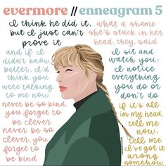 Infj Infp, Introvert, Hannah Cohen, Evermore Lyrics, Type 5 Enneagram, I Am A Unicorn, Taylor Swift Songs, Cancer Sign, Book Reader