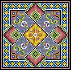 Ornaments and patterns (+oriental) - Monika Romanoff - Picasa Web Albums Cross Stitch Charts, Cross Stitch Designs, Cross Stitch Patterns, Embroidery Stitches, Embroidery Patterns, Quilt Patterns, Cross Stitch Cushion, Mandala, Crochet Square Patterns