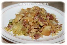 Poêlée chou vert, pommes de terre , lardons