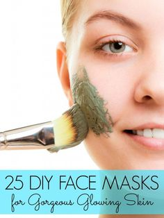 25 DIY Face Masks for Gorgeous Skin #homemadefacemasksglow