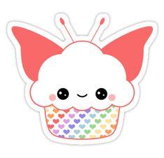 'Kawaii Space Cake' Sticker by sugarhai Cute Food Drawings, Cute Kawaii Drawings, Kawaii Art, Kawaii Anime, Kawaii Stickers, Cute Stickers, Cartoon Cupcakes, Cupcake Drawing, Image Clipart