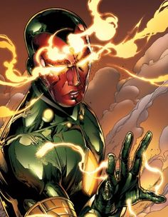 The Vision.. Except I think this is the Young Avengers version of him.. i miss the old Vision. :(