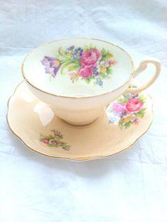 Vintage EB Foley Fine Bone China Tea Cup and by MariasFarmhouse, $48.00