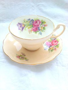 Vintage EB Foley Fine Bone China Tea Cup and by MariasFarmhouse, $48.00