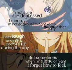 Anime:Shigatsu wa Kimi no Uso aka. Your Lie in April Ah, seriously one of the best animes of all time. Music was amazing, animation was on point, and the story was soo sad. Sad Anime Quotes, Manga Quotes, Happy Quotes, True Quotes, Miyazono Kaori, Anime Triste, Image Citation, Plus Belle Citation, Your Lie In April