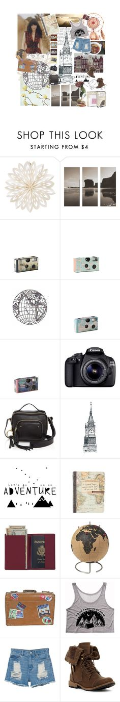 """""""Adventure of a Lifetime, Vivienne"""" by autumnred ❤ liked on Polyvore featuring Cultural Intrigue, Eos, See by Chloé, Royce Leather, CB2 and Monki"""