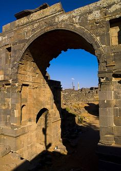 Roman Arch In The Ancient City of Bosra, Syria