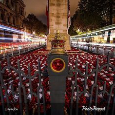 A powerful photo of the #Cenotaph taken by @levanterman. On remembrance day members of the armed forces (soldiers, sailors and airmen) are commemorated. The other common name for this day is #ArmisticeDay which marks the date and time when armies stopped fighting World War I. on November 11th at 11am in 1918 (the eleventh hour of the eleventh day of the eleventh month). // The Cenotaph is a war memorial situated on Whitehall in London. It began as a temporary structure erected for a peace parade following the end of the First World War but following an outpouring of national sentiment it was replaced in 1920 by a permanent structure and designated the United Kingdom's primary national war memorial. Great shot Nige.  // #lestweforget #wewillremember #thisislondon