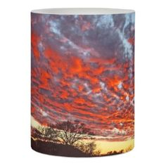 Glorious Sunset Candle - red gifts color style cyo diy personalize unique