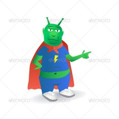 Super ET ...  alien, background, brave, cartoon, character, comics, cool, creature, cute, et, extraterrestrial, eye, eyes, fiction, finger, foot, friendly, fun, funky, futuristic, gesture, gray, green, happy, hero, humanoid, illustration, invaders, isolated, monster, paranormal, pose, posing, positive, skin, smile, space, superhero, symbol, ufo, value, xfiles